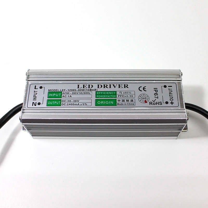 LED Driver DC30-36V/80W/2400mA