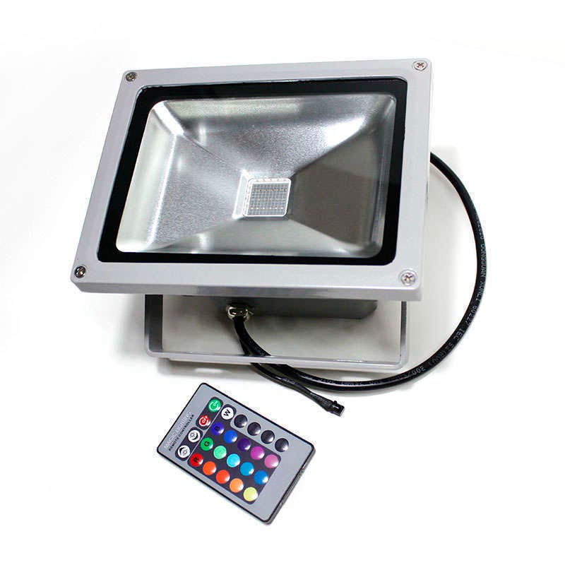 Led outdoor flood light MICROLED, 30W, RGB