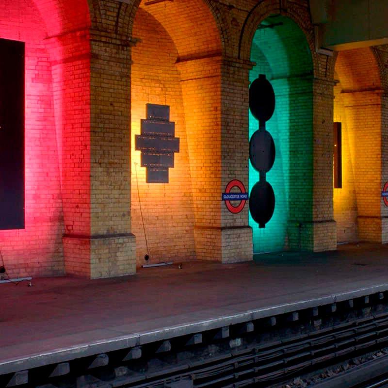 Proyector LED lineal PRO, RGB-DMX512, 24W, 220V, 1m