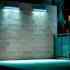 Proyector LED lineal, 24W, 220V, 1m, Verde