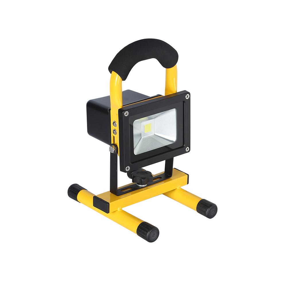 Proyector LED, 10W con batería recargable, Blanco frío