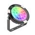 Foco jardín RGB+CCT, 9W, WIFI RF, DC24V, RGB + Blanco dual, Regulable