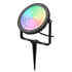 Foco jardín RGB+CCT, 25W, WIFI RF, RGB + Blanco dual, Regulable