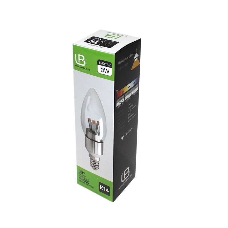 Bombilla LED E14 clear 3W
