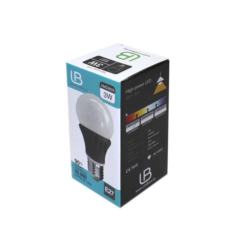 Bombilla LED E27 270º 3W