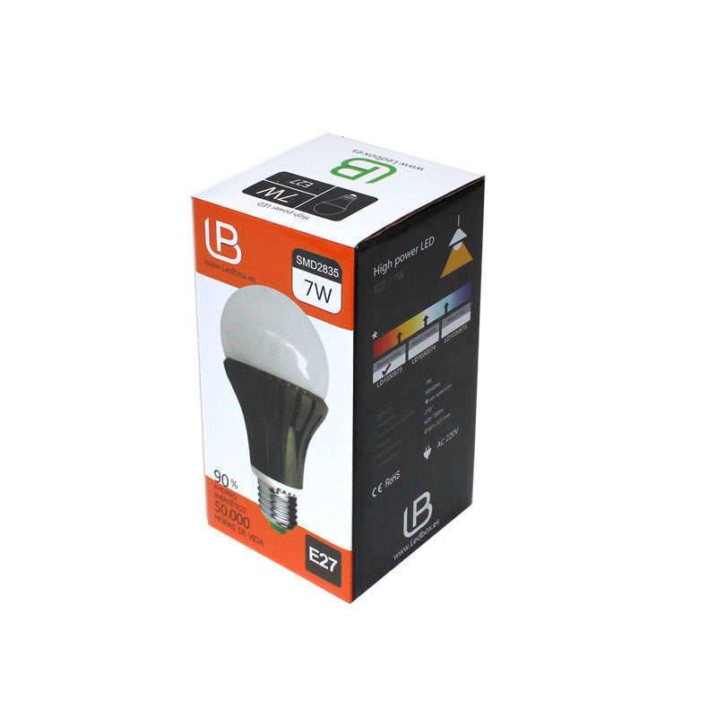 Bombilla LED E27 270º Aluminio 7W