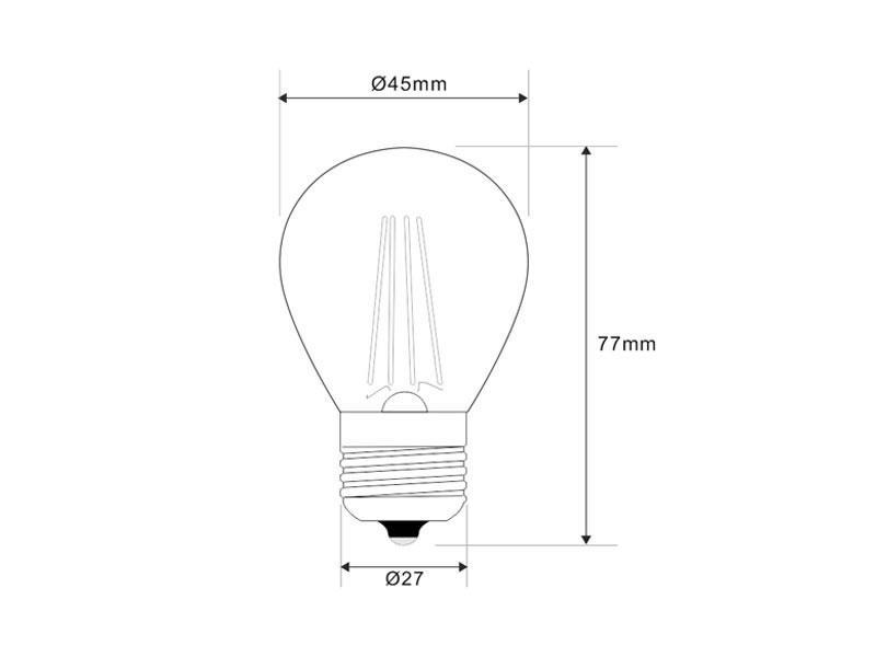 bombilla led e27 cob filamento 4w  small regulable