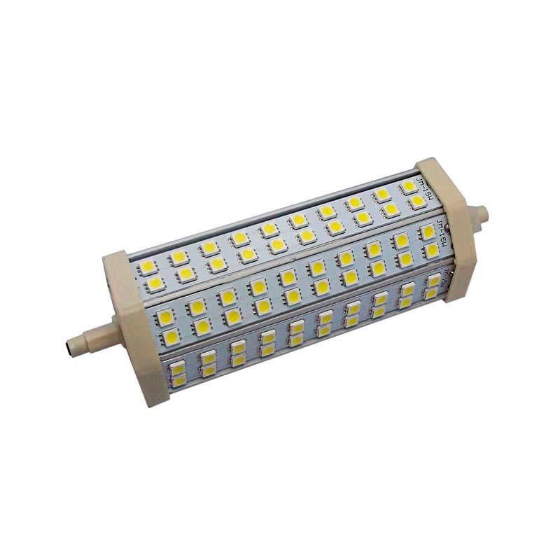 Bombilla LED R7S,  13W,  60xSMD5050,  189mm, Blanco cálido