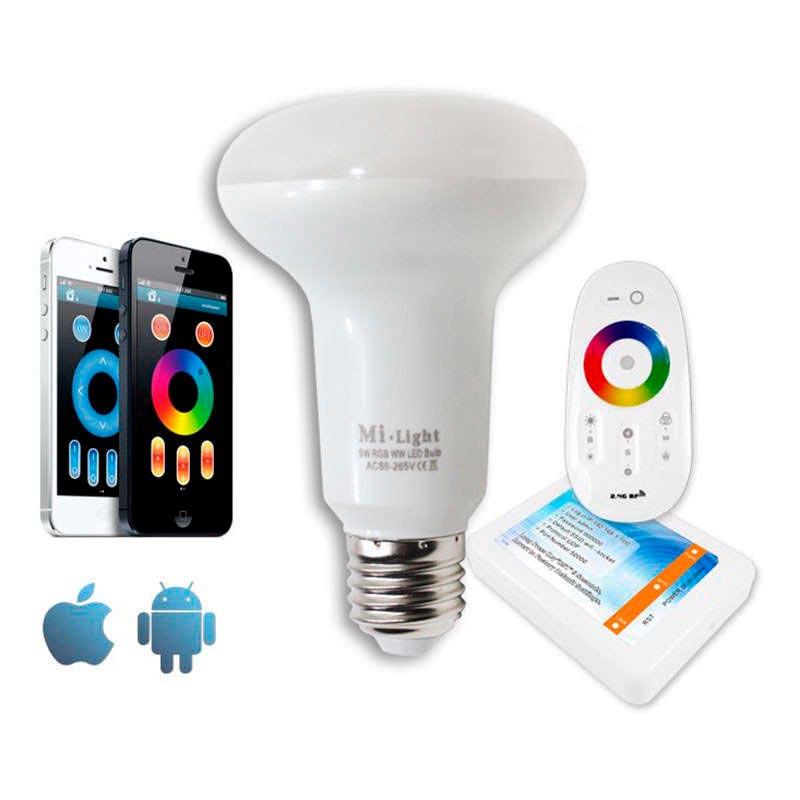 Bombilla Led WiFi PAR30 E27 Bulb 9W RGB+Blanco frío
