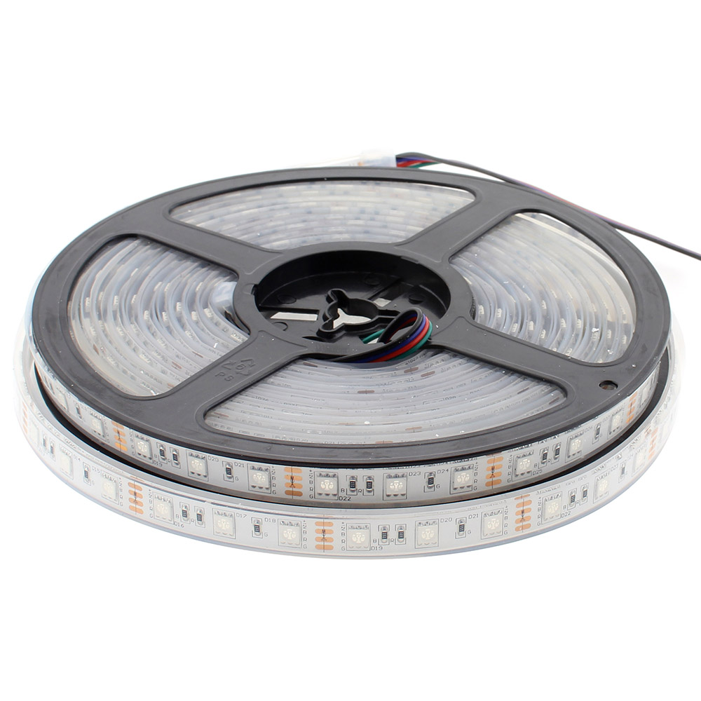Tira LED EPISTAR SMD5050, RGB, DC12V, 5m (60Led/m) - IP68
