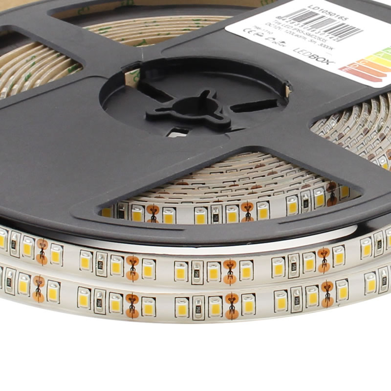 Tira LED SMD2835, DC12V, 5m (120Led/m) - IP65