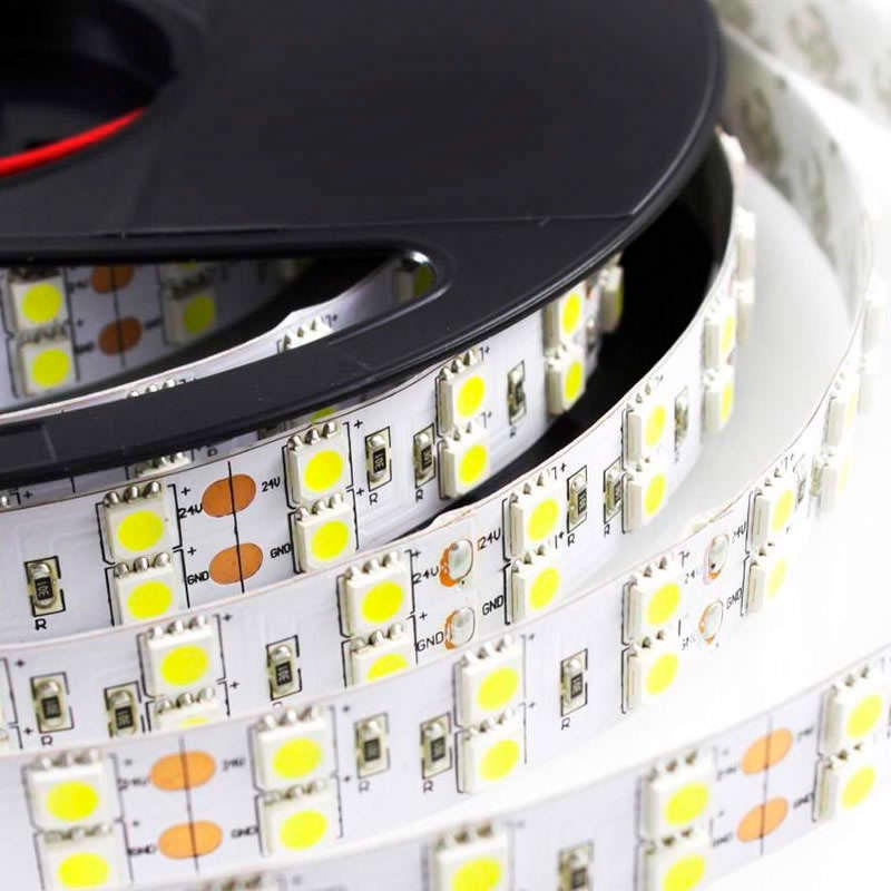 Tira LED flexible SMD5050, DC12V, 5m (120Led/m) - IP20