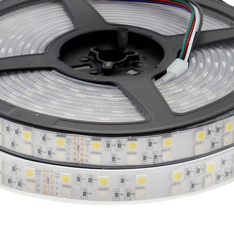 Tira LED EPISTAR SMD5050, RGB+NW, DC24V CC, 5m (120Led/m) - IP65