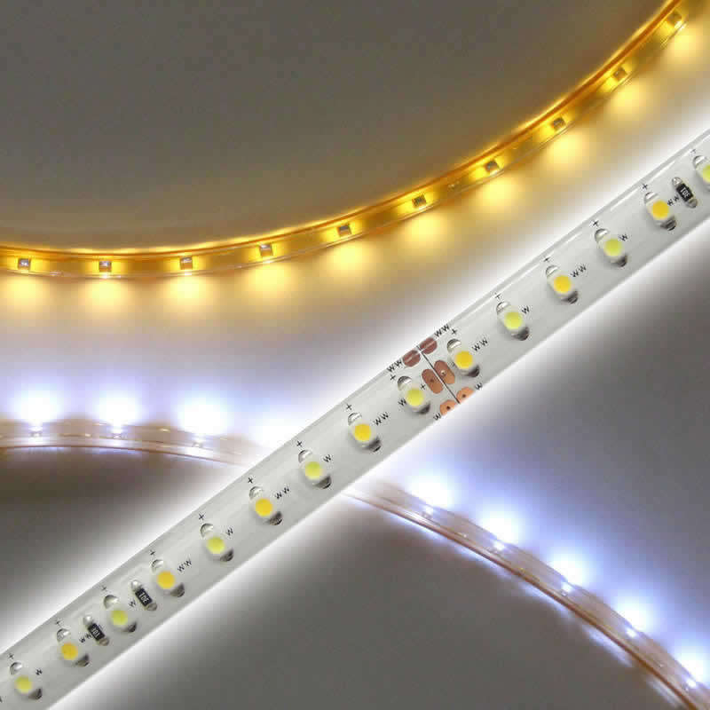 Tira LED Blanco Dual SMD3528, DC24V, 5m (120 Led/m) - IP65