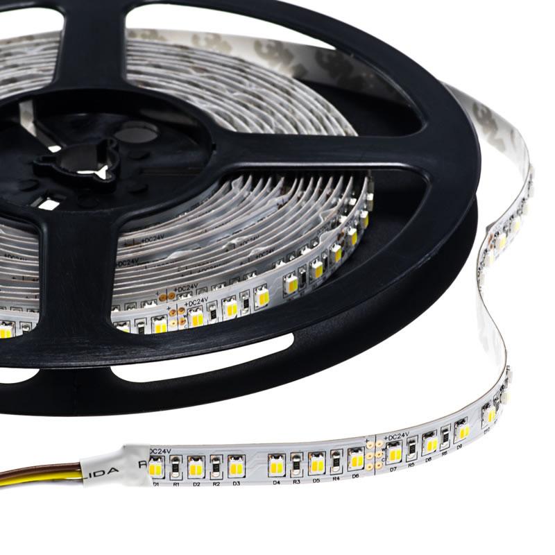 Tira LED Blanco Dual SMD3014, DC24V, 5m (224 Led/m) - IP20