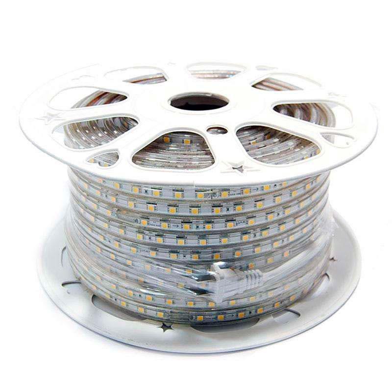 Tira LED 220V SMD5050, 60Led/m, carrete 50 metros, Verde