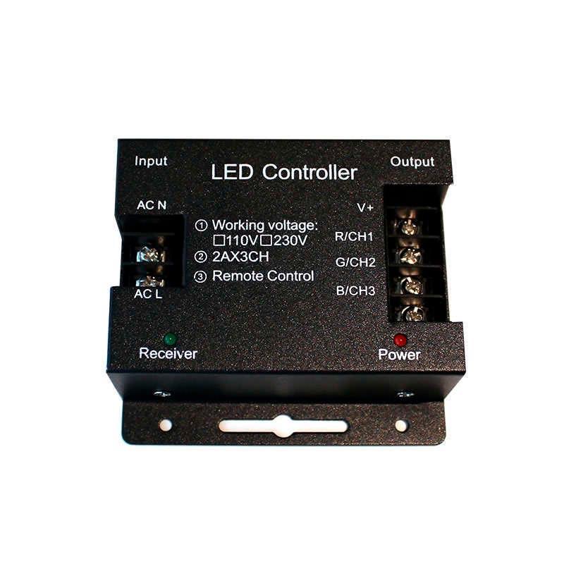 Controlador RF tira led 220V RGB 1200W