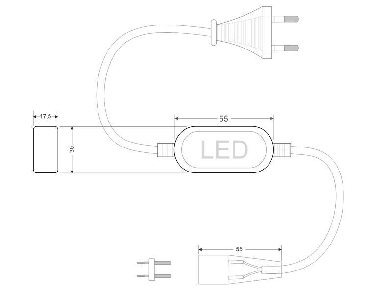 Tira LED 220V SMD3528, 60Led/m