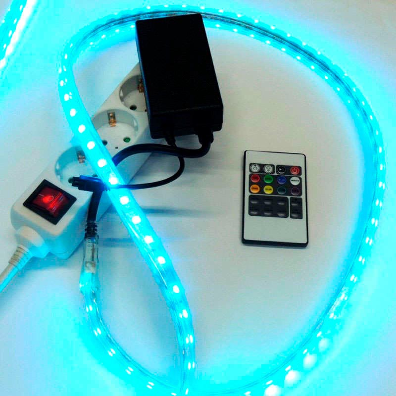 Controlador IR NEON Flex 220V RGB 750W