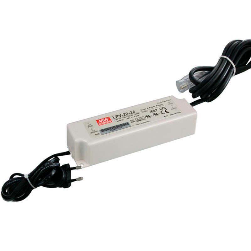 Adaptador de corriente Mean Well LPV-20-24, IP67, DC24V/20W/0.84A