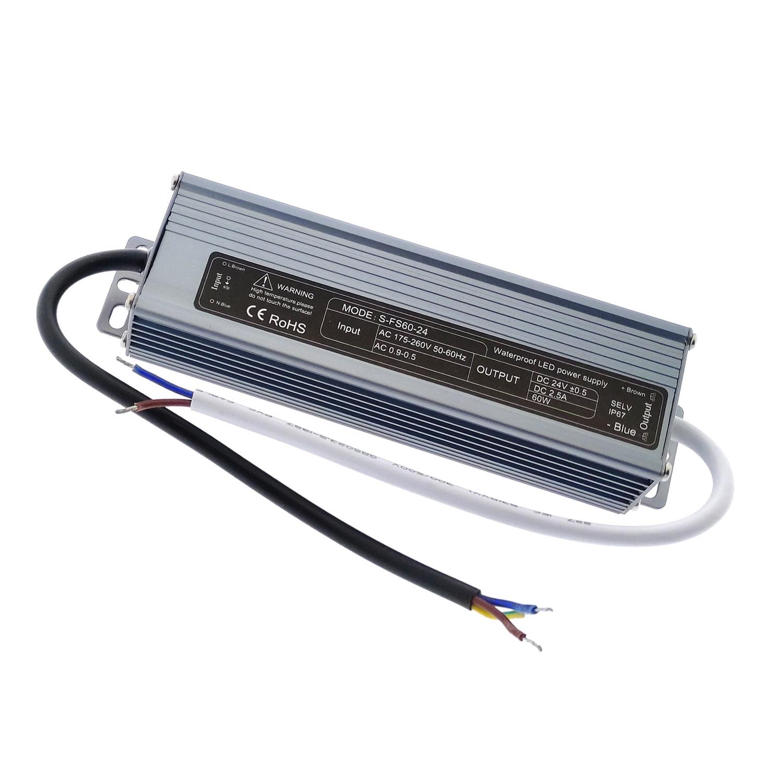 Fuente de alimentación IP67, DC24V/60W/2.5A