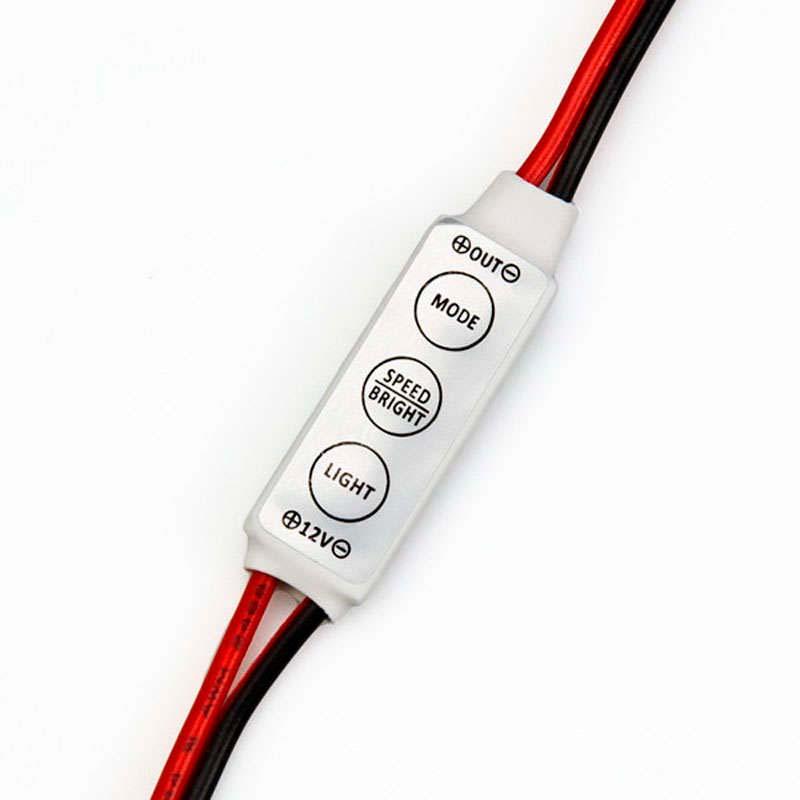 Controlador Dimmer Mini tira led monocolor