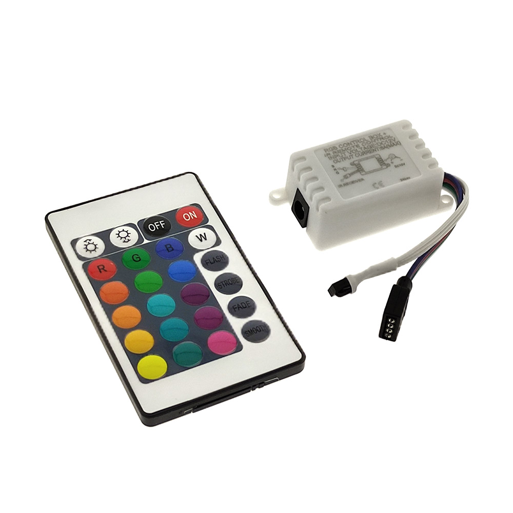 Controlador IR tira led RGB 24 botones