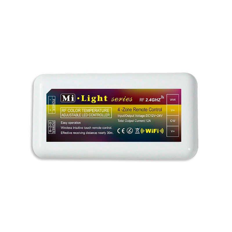 Controlador monocolor DUAL RF 4 zonas + mando
