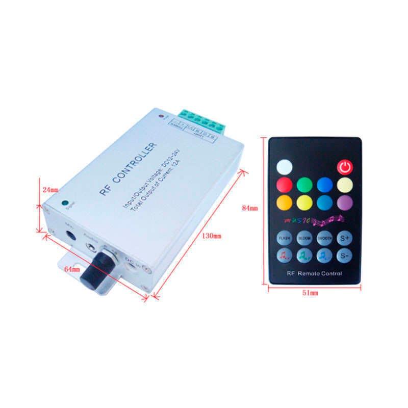 Contrôleur LED RGB + AUDIO - RF
