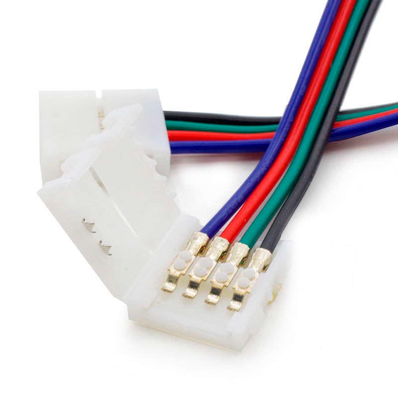 Cable de conexión directa doble para tira LED RGB (4 Pin) 10mm