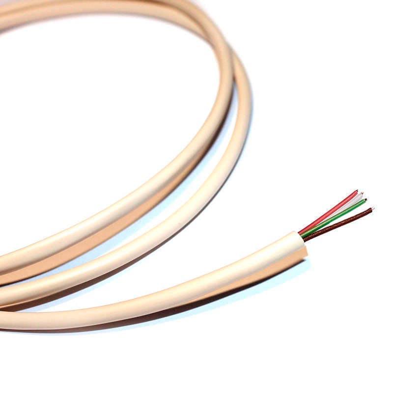 Cable redondo de conexión para tiras LED RGB 4x0,50mm, 1 metro