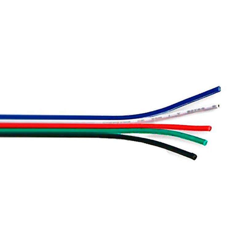 Cable de conexión para tiras LED RGBW 5x0,50mm, 1 metro