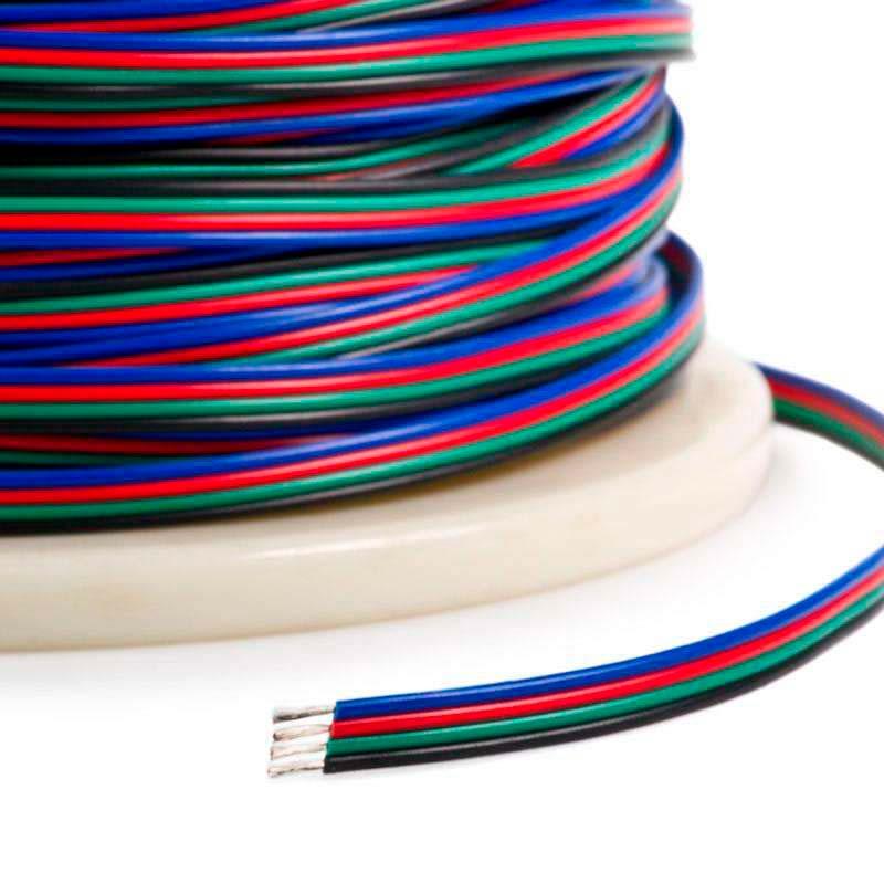Cable de conexión a medida para tiras LED RGB 4x0,50mm, 1 metro