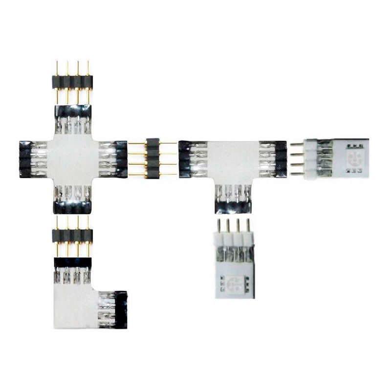 Conector Macho / Hembra para tiras LED RGB (4 Pin)