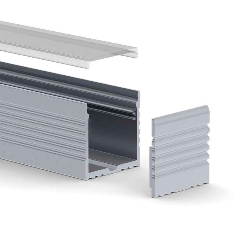 Perfil aluminio vart suspend para tiras led 1 metro ledbox - Tiras de aluminio ...
