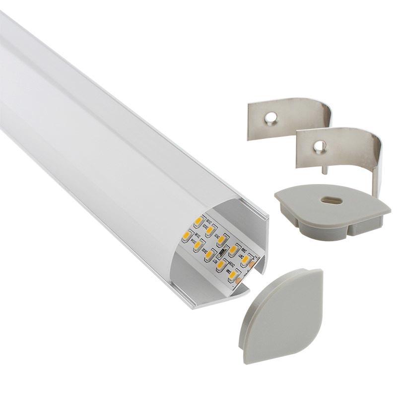 KIT Perfil aluminio KORK para tiras LED, 2 metros