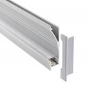 Perfil aluminio NITRA para tiras LED, 1 metro