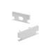 KIT - Perfil aluminio HARDY para tiras LED, 1 metro