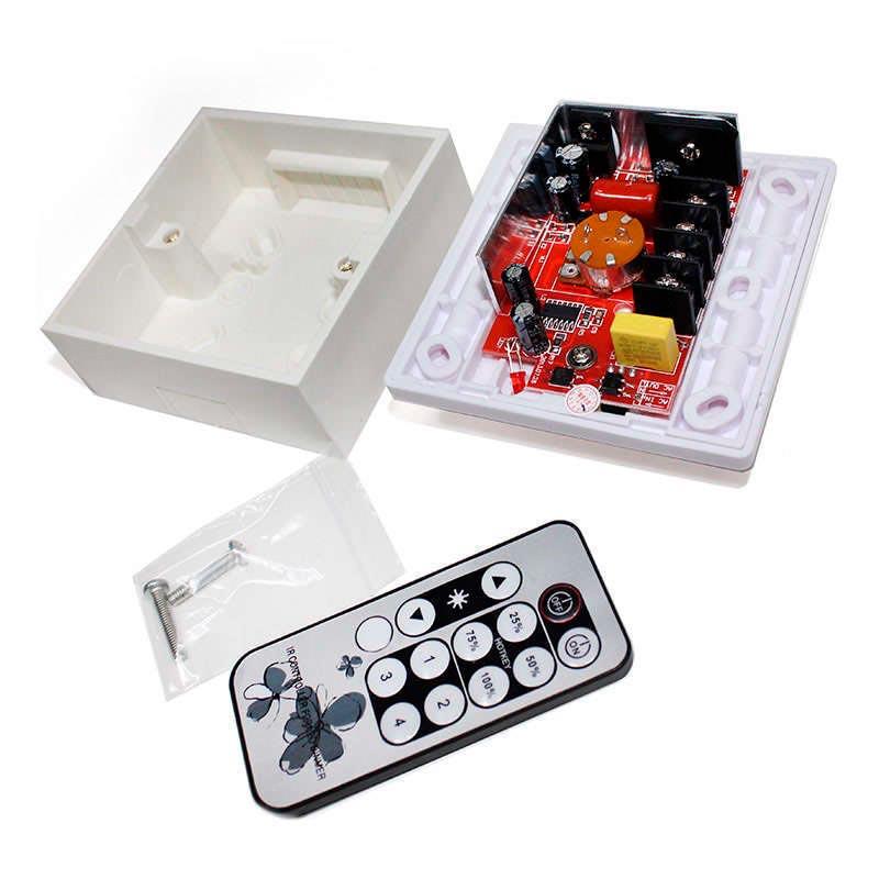 Regulador TRIAC Dimmer PWM + mando IR, 150W