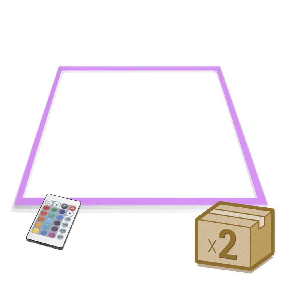 Pacote 2 painéis FRAMELUX, 24W, RGB, 60x60 cm, RGB