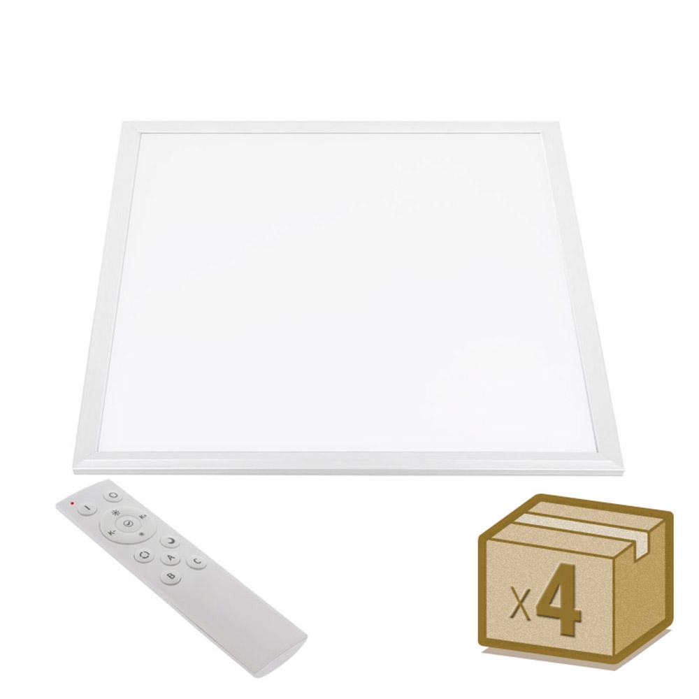 Ledbox Pack 4 X Painel LED 45w Branco Dual Rf 60x60cm Branco Dual