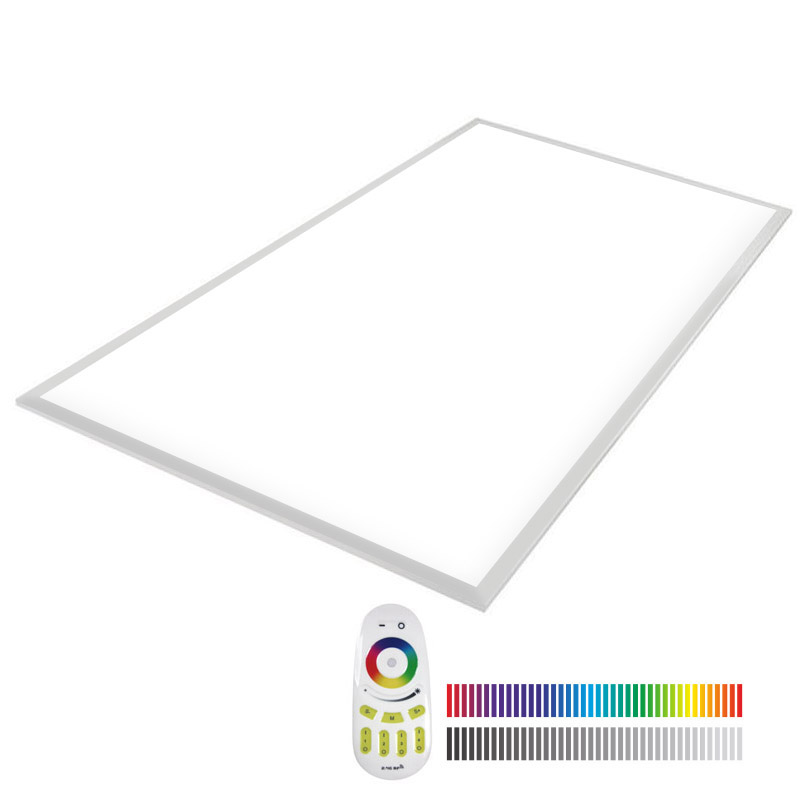 Ledbox Painel LED 65w Rgb+cw Rf 60x120cm RGB + Branco Frio