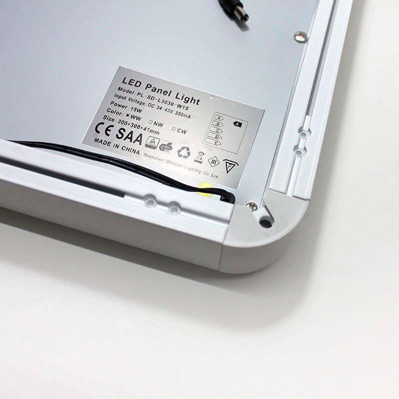 Panel LED de superficie 20W,  35x35cm