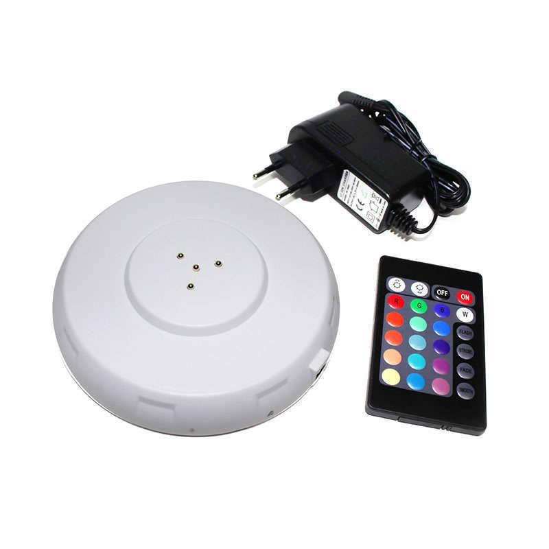 Base RGB 8led DIP + batería + mando