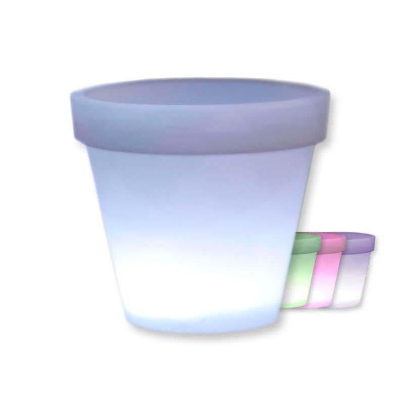 Macetero luminoso RGB MEDIAN, recargable, RGB