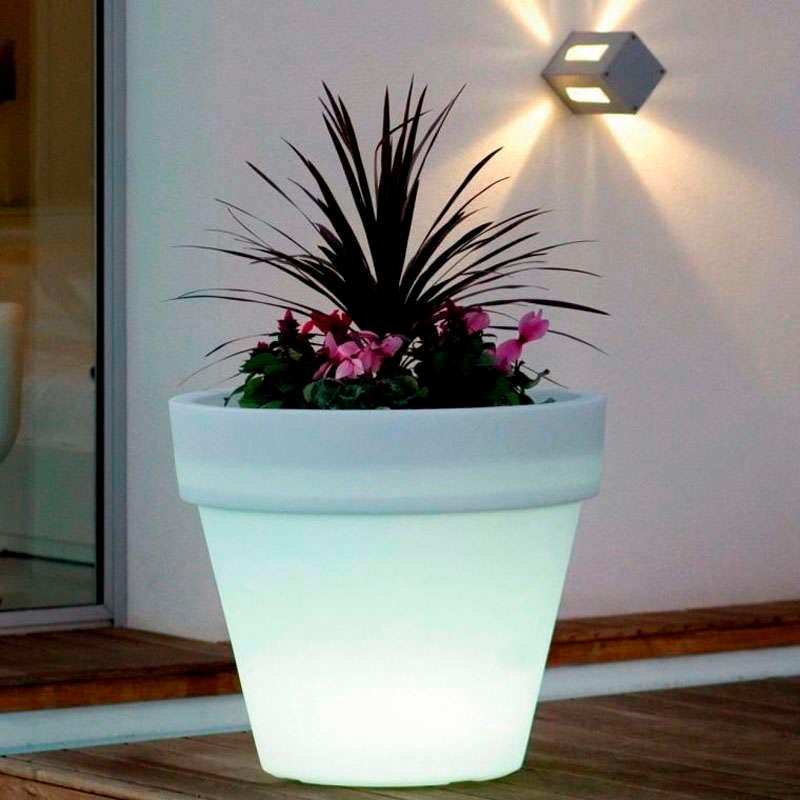 Led cube planter BIG RGB, rechargeable
