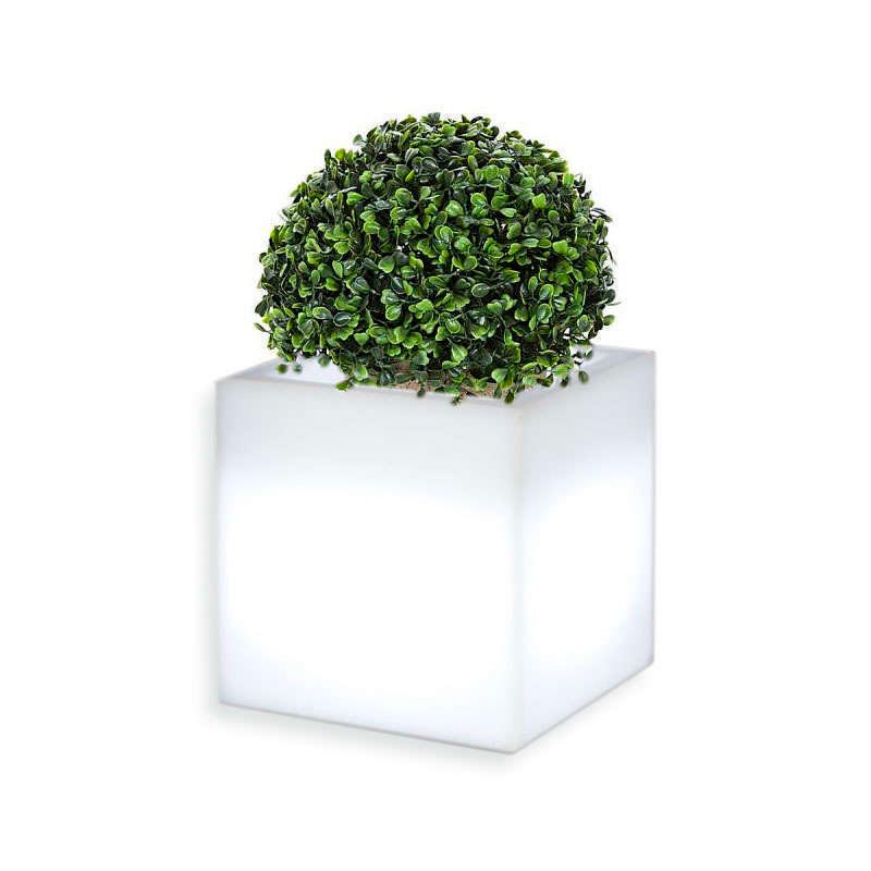 Led cube planter KANTIG RGBW rechargeable