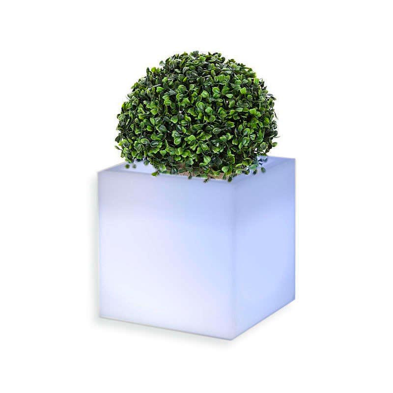 Led cube planter KANTIG RGB rechargeable