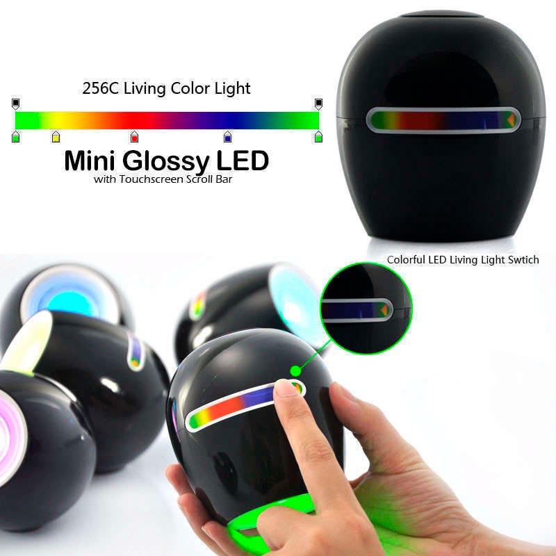 Mini Glossy Black Led