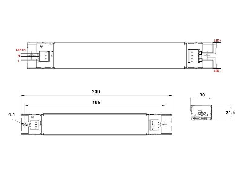 Led driver dc57 82v 30w 350ma philips ledbox for Piscina rigida rectangular